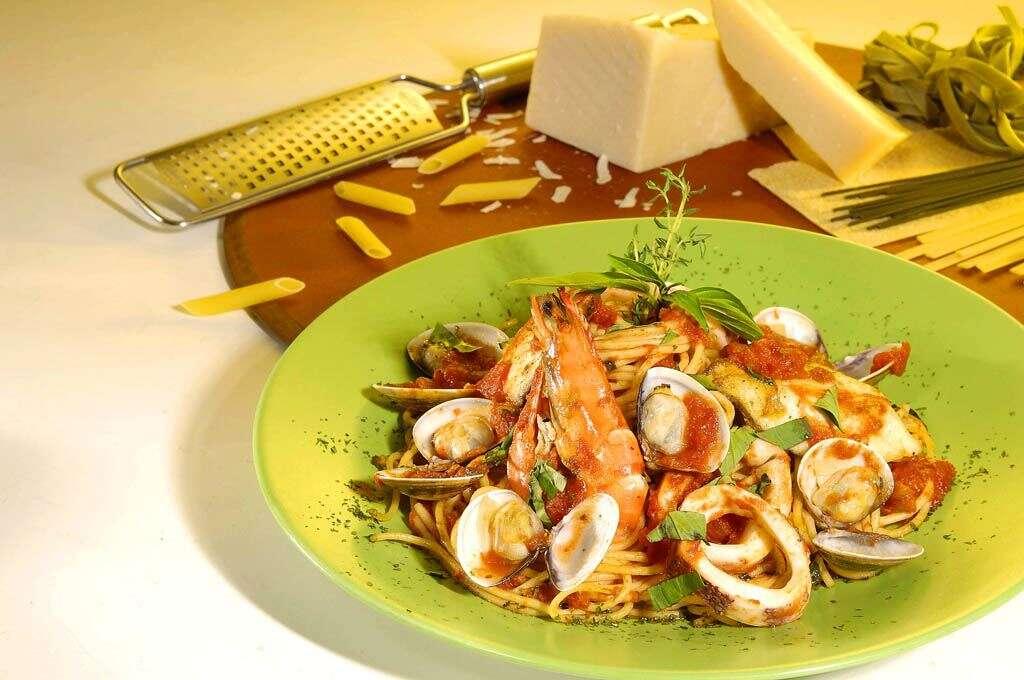 綠橄欖義大利麵