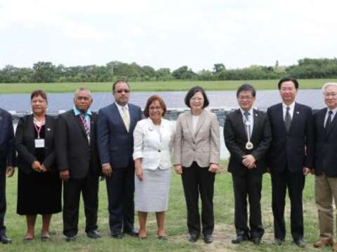 President Tsai Accompanied Marshall Islands President on Visit to Tainan to Observe Green Energy Industries
