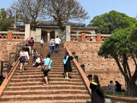 The Central stairway of Anping Old Fort