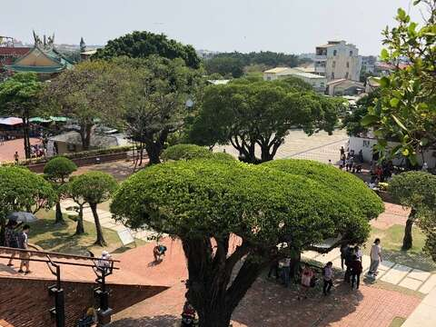 The panoramic view of Anping Old Fort