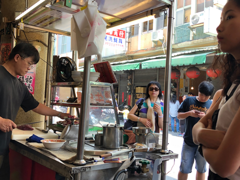 The beef soup food stand in Yongle Market