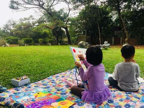 2020虎頭埤元旦「畫畫野餐聽民歌」兒童寫生