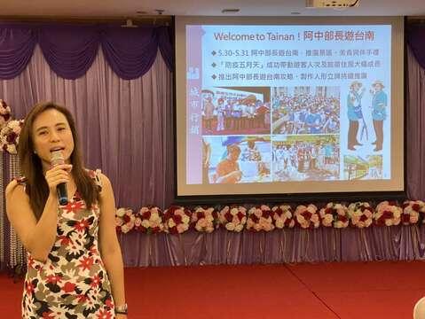 觀光旅遊局郭貞慧局長報告黃偉哲市長帶領阿中部長台南行成果