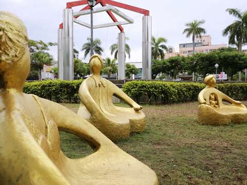 昭旺‧玟瑾雕塑展 臺南市議會提供