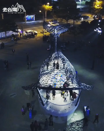 The touching night illumination Blessing from the whale of Anping